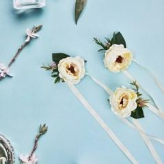 [브라이덜샤워 파티용품] 캐롤린 꽃팔찌