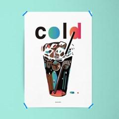 유니크 인테리어 액자 디자인 포스터 아이스 아메리카노 커피 카페