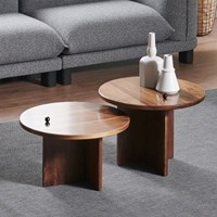 연하 원목 사이드 테이블(소)