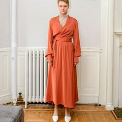 19 SS for her. MAXI ROBE (brick)