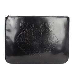 19SS 겐조 타이거 로고 엠보 PVC 클러치 (블랙) F952SA607 F07 99