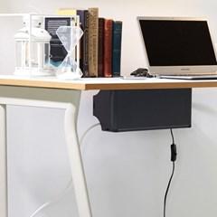 탭업 책상부착형 멀티탭 정리함 1+1_(2266810)