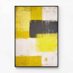 메탈 모던 추상화 그림 포스터 액자 Yellow and Grey