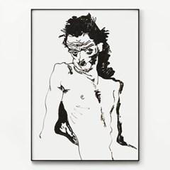 메탈 드로잉 아트 누드 그림 포스터 액자 에곤 쉴레 20