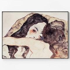 메탈 여자 드로잉 아트 누드 그림 액자 에곤 쉴레 19