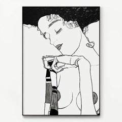 메탈 명화 그림 드로잉 아트 포스터 액자 에곤 쉴레 16
