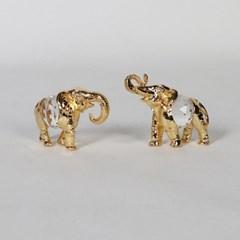 엔틱메탈 황금코끼리 커플 데코 장식 2개세트