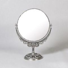 큐티 메탈 스크롤 원형 스텐드 화장대 거울 라지-2색상