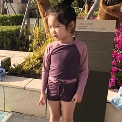 바니배색 아동 래쉬세트