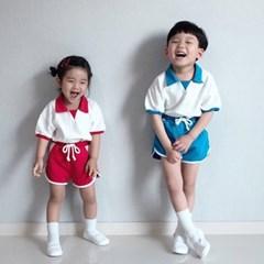 카라배색 아동 상하세트