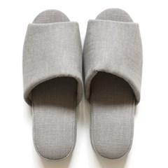 gray linen slipper