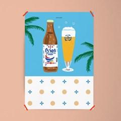 유니크 읿본 인테리어 액자 디자인 포스터 M 오키나와3 맥주