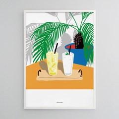 유니크 인테리어 액자 디자인 포스터 M 레모네이드와 스무디 카페