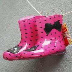 핑크 고양이 도트 유아 레인부츠(160-200mm) 203893_(902722512)