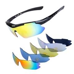 카라라 5가지 렌즈 러닝 자전거 다기능 스포츠 고글 선글라스