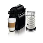 [네스프레소] 이니시아 D40+에어로치노 캡슐 커피머신 BK+WH