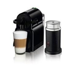 [네스프레소] 이니시아 D40+에어로치노 캡슐 커피머신 BK+BK