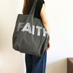 faith italian cotton big bag gray