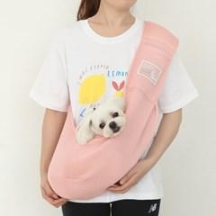 캥거루 메쉬 슬링백 (핑크)