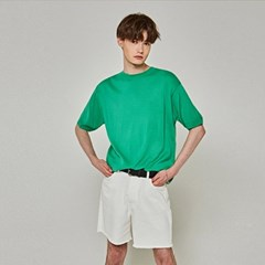 SUMMER KNIT HALF T-SHIRTS_GREEN