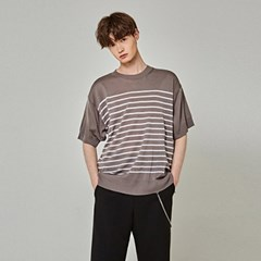 LIGHT ST KNIT HALF T-SHIRTS_GRAY