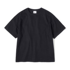 Pullover Linen Tee Black