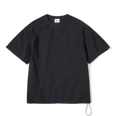 Pullover String Tee Black
