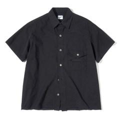 Zipper 1/2 Shirts Black