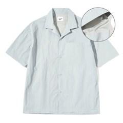 Mesh Half Shirts Sky Blue