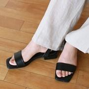Matte square sandal