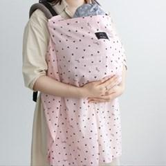 코니테일 수유가리개 - 하트 (아기띠바람막이 워머)