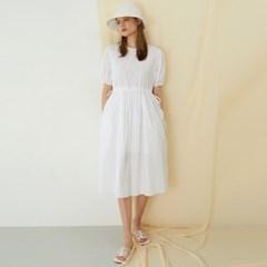 [룩캐스트] WHITE COTTON RIBBON DRESS화이트 코튼