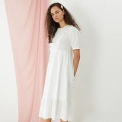 [룩캐스트] WHITE COTTON LACE LONG DRESS화이트 코