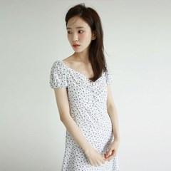 girlish mood flower shirring dress (2colors)_(1260401)