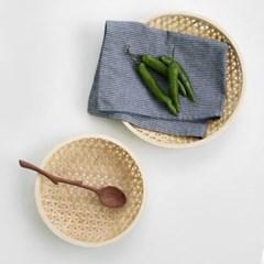 일본식 대나무 채반 2size 원형트레이