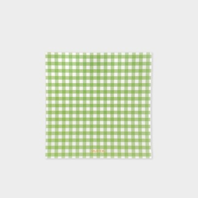 GINGHAM MEMO PAD - Green