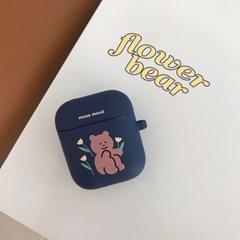 [뮤즈무드] flower bear airpods case (에어팟케이스)