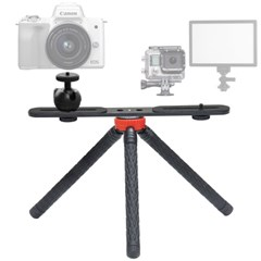 KM-837 셀피스틱 삼각대+KP-033 듀얼 브라켓 SET (카메라 액션캠 등)