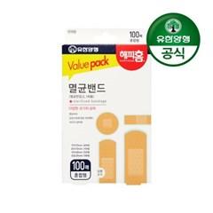 [유한양행]해피홈 멸균밴드(혼합형) 100매입_(2029529)