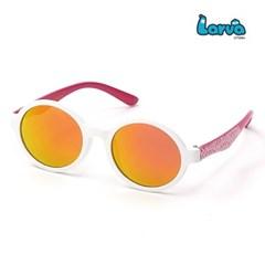 라바 키즈 선글라스 LV-5001 화이트/핑크