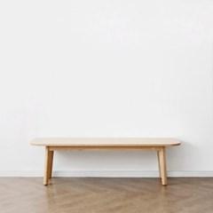 [오크] A1형 커브벤치의자 : 레드오크