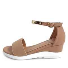 kami et muse  Gold metal ankel strap wedge sandals _KM19s208