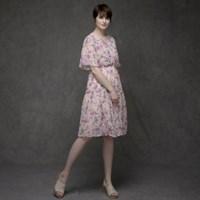 [유니온로우]플로랄 랩 원피스_핑크