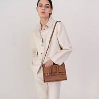 Athe buckle bag Light brown/ 아테 버클백 라이트브라운