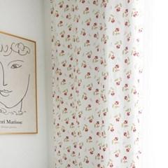 [바이아미] 폴인리프 꽃무늬 작은창 커튼
