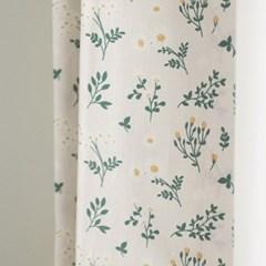 [바이아미] 그리너리 꽃무늬 작은창 커튼