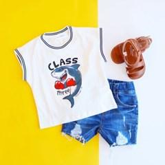 상어 남아 민소매 티셔츠 IB2CV557B