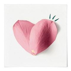 패브릭 포스터 S078 식물 감성 인테리어 액자 핑크 하트