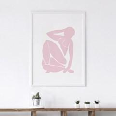 핑크우먼 앙리마티스 그림 액자 드로잉 인테리어 포스터