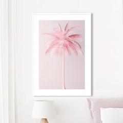 핑크팜 야자수 보테니컬 그림 인테리어 액자 포스터